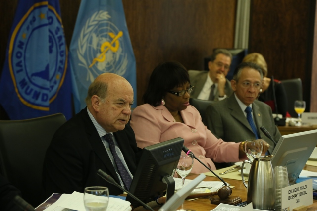 PAHO and OAS present drug report to health authorities of the Americas